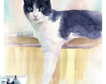 Custom Pet Portrait, Original Watercolor Portrait, Dog  Portrait, Cat Portrait