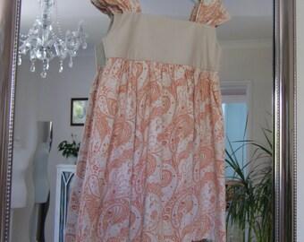 Nessa Wide Strap Dress Girls PDF Sewing Pattern age 2 to 7 years