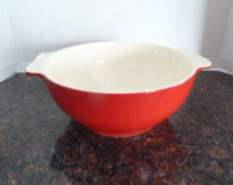 Vintage Red Universal Cambridge Bowl with Handles