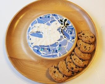 Mosaic Dove Serving Platter
