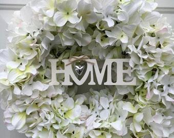 Hydrangea wreath - new home gift - front door wreath - Mother's Day gift - all season wreath - floral  home decor - Hydrangea decor