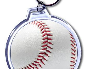 Personalized Baseball Keychain - 2 Size Choices