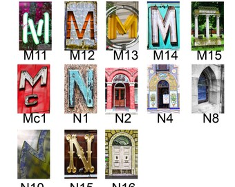 M thru Z list of Color Letters