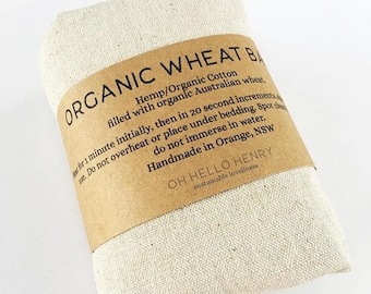 Organic wheat pack heat / cool bag / pack /
