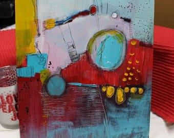 Book Sample Original Abstract Art 11 x 14 by artist and author Jodi Ohl