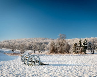Sunrise in the Snow at Valley Forge