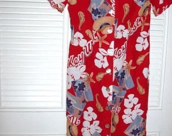 Dress 4, Vintage Carol Anderson Dress  Depicting Key West Starfish All Things FL Size 4 Petite maxi