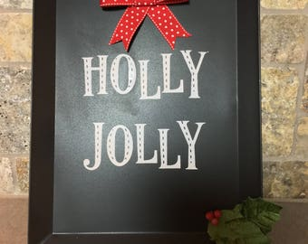 Metal Holiday Chalkboard Sign