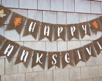 Thanksgiving Decor, Thanksgiving Banner, Thankful Burlap Banner, Thankful Bunting, Thanksgiving Burlap Garland, Happy Thanksgiving, Rustic