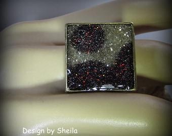 Resin Glitter Ring – Glacier Flow