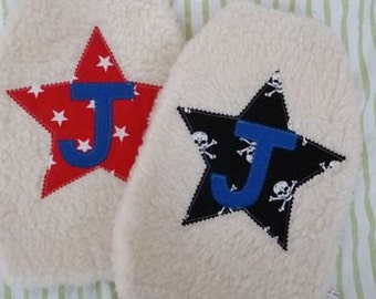 Personalised Boys Bright Star Print Hot Water Bottle