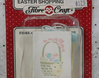 Dollhouse Miniature, Easter Miniature, Miniature Easter Shopping Bags