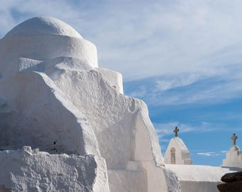 PANAGIA PARAPORTIANI Church in Mykonos Greece, Fine art and travel Photography wall art