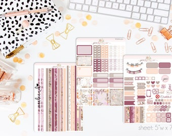 Woodland Grace HORIZONTAL Weekly Kit // 130+ Matte Planner Stickers // Perfect for your Erin Condren Life Planner // WKH0350