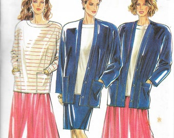 New Look 6499       Misses Jacket, Top and Skirts with Variations   Size 8-20    Uncut