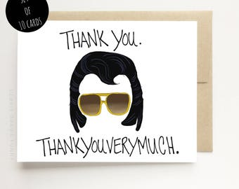 Thank You Cards - Thank you Thank you very much - Funny Thank You Cards - Set of Thank you cards - Thankyou Cards