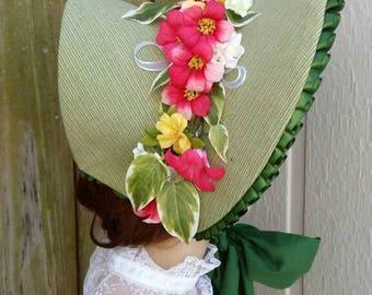 Grass Green Empire Bonnet