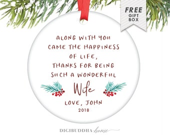 Gift For Wife for Christmas Ornament Personalized Gift from Husband to Wife Custom Poem Ornament for Wife Christmas Gift Newlywed from Groom