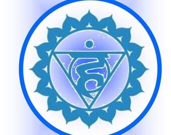 Throat Chakra Meditation Card- Digital Download