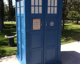 Small Tardis Sign Fabric Police Public Call Box For Doctor