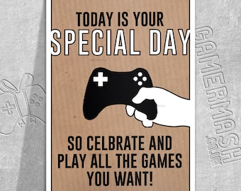 PERSONALISED BIRTHDAY CARD - Relax... - Video Game themed