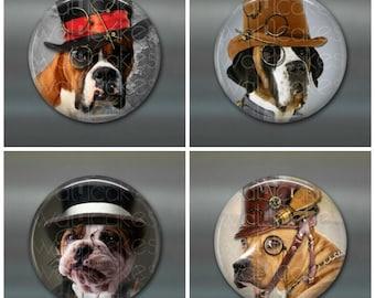 """3.5"""" steampunk dog magnets, steam punk decor, large fridge magnets, big magnets set of magnets, kitchen decor"""