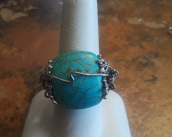 Turquoise and wire