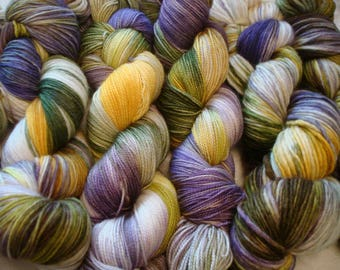 READY TO SHIP, 3 types of Fing, Dk and Worst, Variegated. Sprinkles, Hand Dyed Yarn, Color - Home