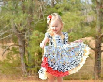 Girls Toddler Down on the Farm big twirl MOO Tastic Cow dress 2T 3T 4T 5T 6 6x 7