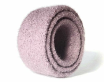 Felt Nesting Bowls Set Of Three Home Décor Knitted Felted Lavender Wool Back To School Desk Organizer Container Storage Hostess Gift