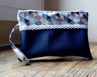 Graphic Blue pouch