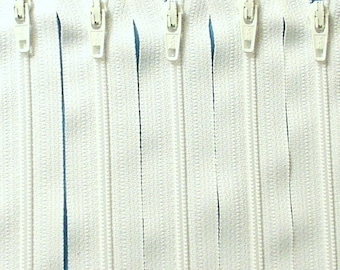 Zipper SALE: Wholesale Fifty 16 Inch White Zippers YKK Color 501