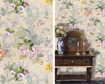 Dollhouse Miniature Wallpaper, Amelia, Scale One Inch