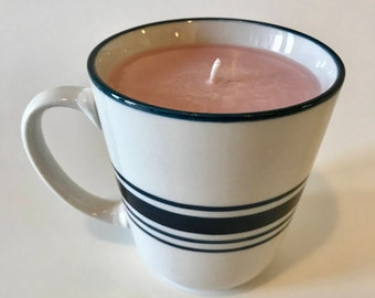 Soy coffee mug candle, pomegranate cider candle, soy mug candle, holiday scented candle, hand poured soy candle, holiday mug candle, scented