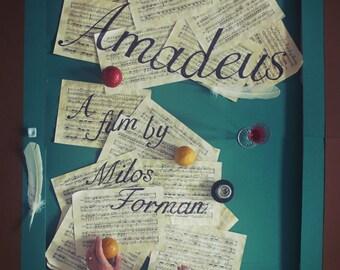 Amadeus Film Poster A3 - Original Artwork by Jordan Bolton
