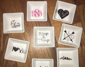 Customized Personalized Jewelry tray ring dish