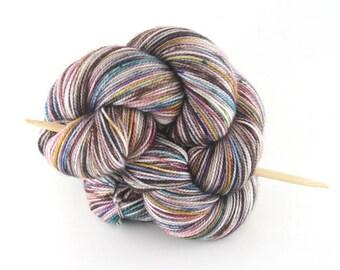 "Hand dyed yarn,  80 / 10 / 10%  Super wash Merino / Cashmere / Nylon, sock yarn, 400 yards, 'Winter Field"""