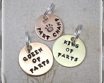 Pet ID Tag - Pet Tag - Animal Tag - Personalized Tag - Hand Stamped Tag -  Pet Collar Tag -  Dog Collar Tag - Pet Charm - Dog Charm