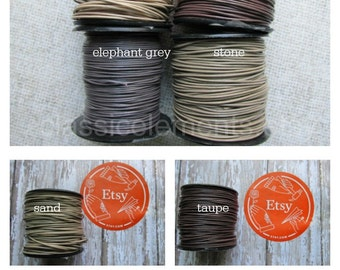 0.5 mm Opaque Neutrals, .5mm round Leather Cord, Leather cord, Round cord, Small Leather Cord, ClassicBead, Leather, Small Leather cord