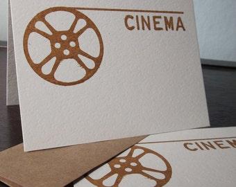 Kino Film Reel - 12-Pack Gocco Siebdruck Grußkarten