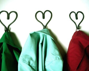 Love heart hooks, iron wedding anniversary, valentines gift, for her