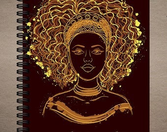 Melanin Magic Journal | Wire Bound | spiral journal | writing journal | custom journal | school supplies | gift for book lovers | diary
