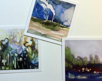 Three 4x4 Fine Art Prints of Your Choice