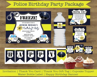 Police Invitation; Police Party Printables; Police Birthday Party Package; Police Birthday Invitations; Policeman Party; Cops and Robbers