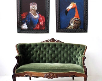 "Lady Aves of Strigidae -  Ornate Frame 25.5"" X 21.5"""