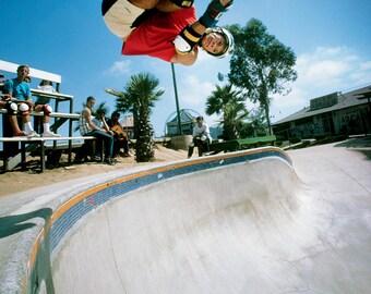 Mike McGill McTwist 540 Skateboarding Photograph - 18 x 24 Inch Eighties Skateboard Photograph - 80s Skateboard Print
