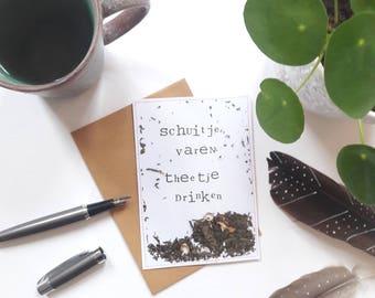 Schuitje varen theetje drinken I Ansichtkaart/Postcard