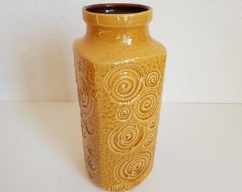 Mid century Jura vase – Scheurich fossil vase – goldenrod yellow vase