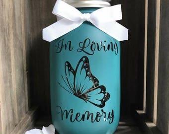 Loving Memory Mason Jar