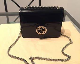 Vintage Gucci Patent Leather Shoulder Bag